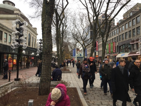 Outside at Quincy Market