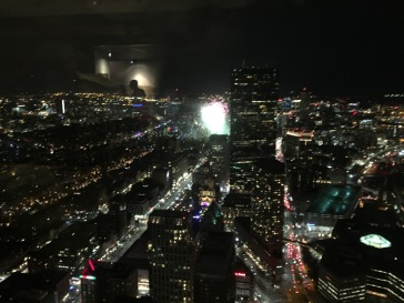 Fireworks from the top of the Prudential